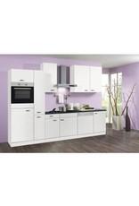Keuken 310cm wit incl oven, koelkast, kookplaat, vaatwasser en afzuigkap KIT-1634
