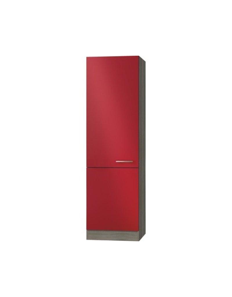 Servicekast signaal rood satijn (BxHxD) 60,0x206,8x57,1 cm H606-9 KIT-2209