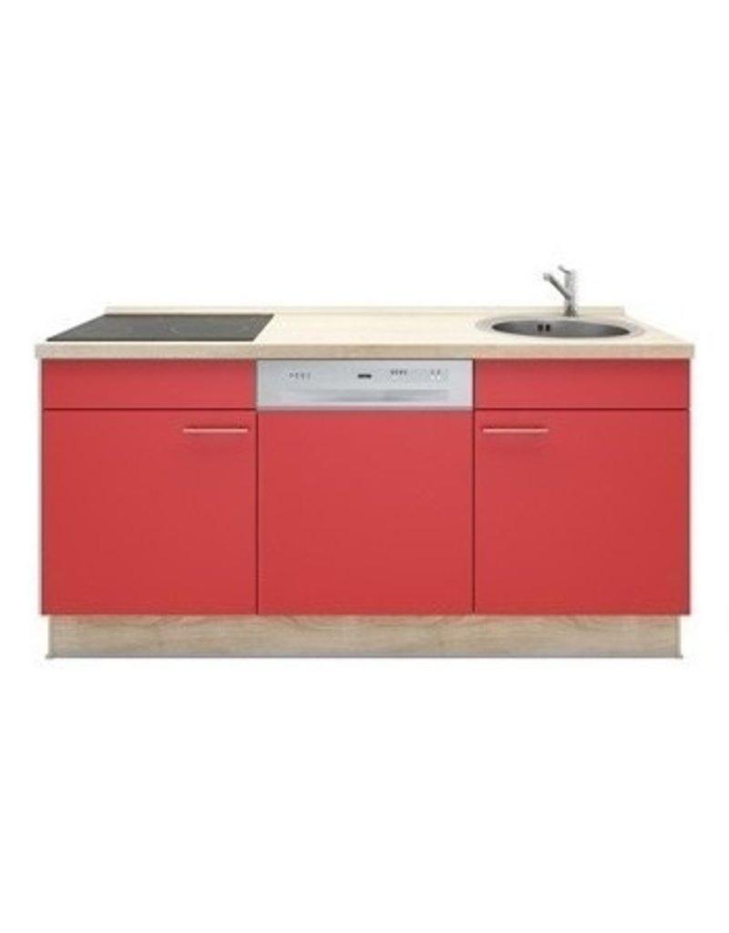 3-in-1 minikeuken kookplaat + vaatwasser 180cm KIT-10992