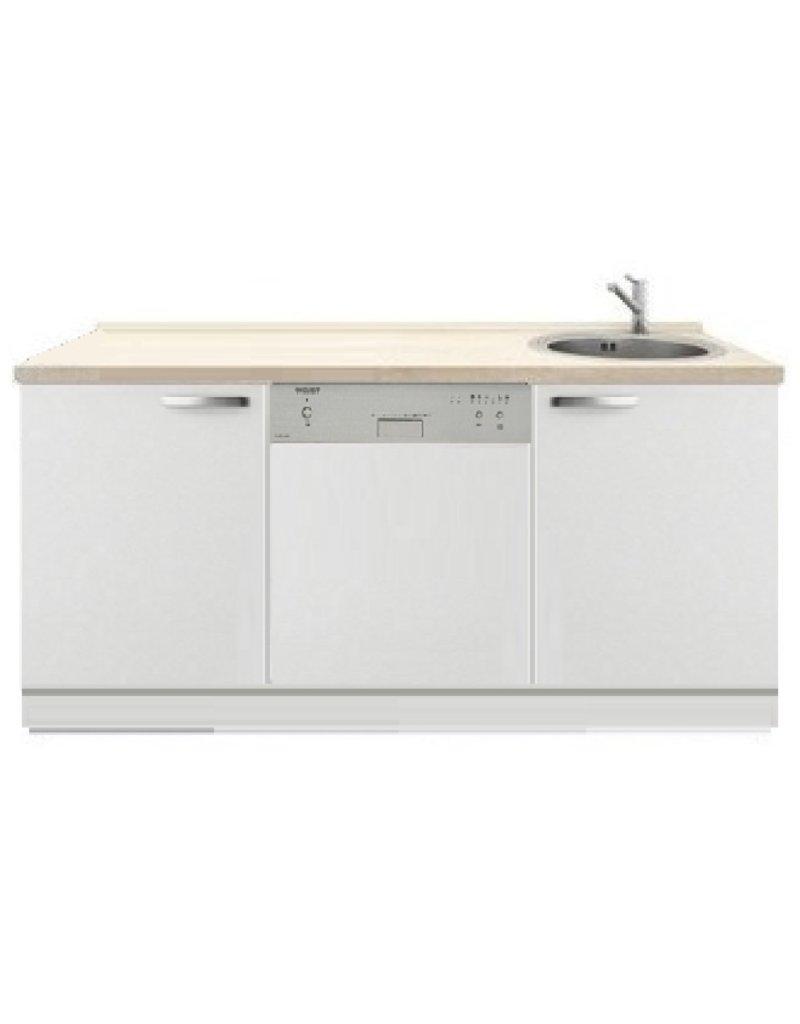 Kitchenette 150cm wit hoogglans met vaatwasser KIT-4435