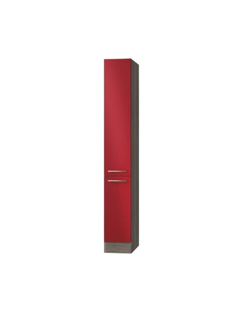 Apothekerskast Rood hoogglans met 5 laden 211 cm hoog KIT-916