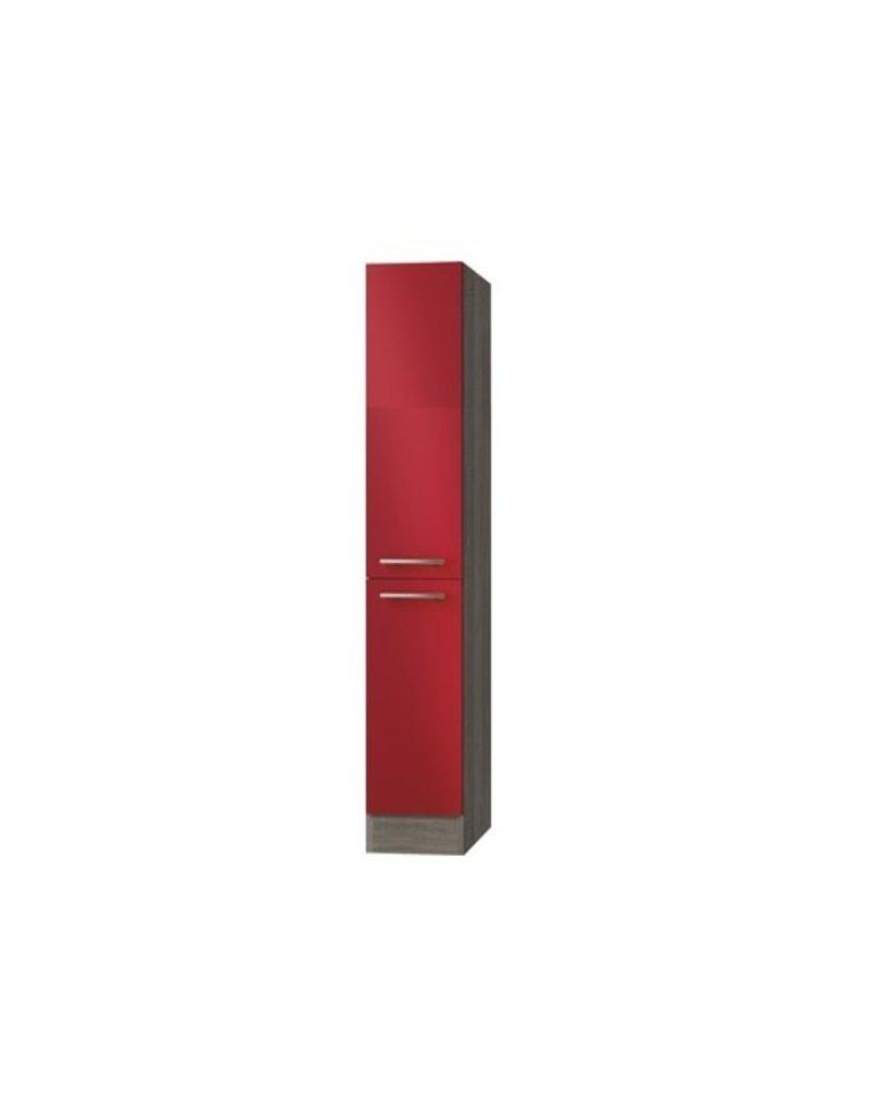 Apothekerskast Rood hoogglans met 4 laden 174 cm hoog KIT-915