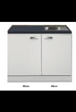 Kitchenette 100cm Lagos wit hoogglans incl inbouw koelkast KIT-258