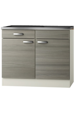 Keukenblok Vigo grjs-bruin met een la 100 x 60 cm KIT-2020