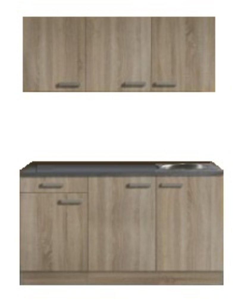 Keukenblok 150cm Neapel houtnerf KIT-003
