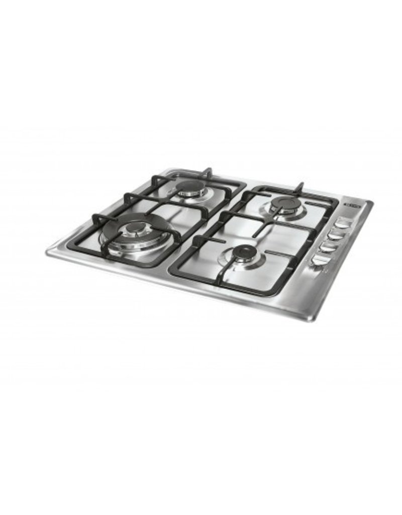 Keukenblok 180cm wit hoogglans incl gas-kookplaat, inbouwkoelkast, afzuigkap en combi magnetron KIT-2459
