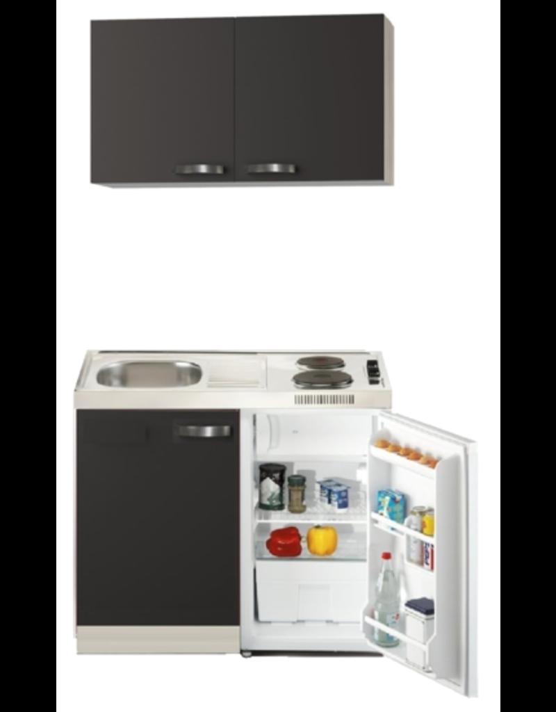Keukenblok Faro 100cm met koelkast en e-kookplaat KIT-1662