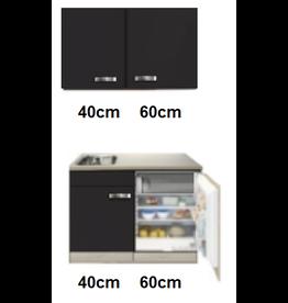 keukenblok 100cm incl inbouw koelkast en wandkasten KIT-545