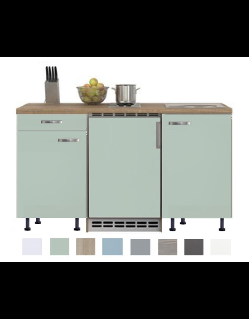 Keukenblok 150 Karat incl koelkast en kookplaat en wandkasten KIT-914