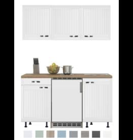 Keukenblok 150 Karat Klassiek incl koelkast en kookplaat en wandkasten KIT-916