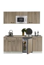 keukenblok 180 met inbouw koelkast, magnetron en 2-pit elektrisch kookplaat KIT-330