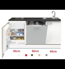 3-in-1 minikeuken + kookplaat + vaatwasser + koelkast 160cm KIT-1003