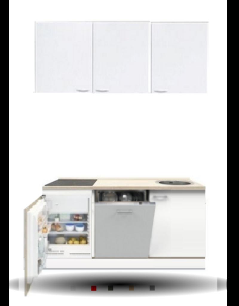3-in-1 minikeuken + kookplaat + vaatwasser + koelkast 160cm KIT-1004