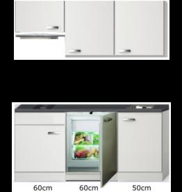 Keukenblok 170cm met inbouw koelkast, kookplaat en afzuigkap KIT-004
