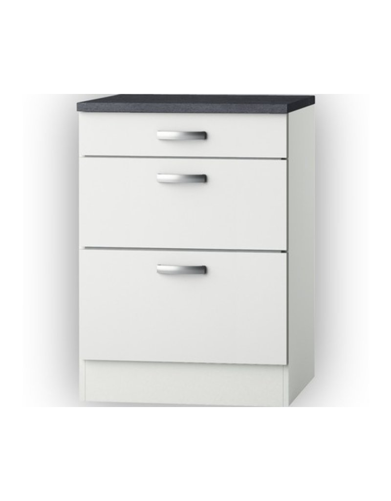 Kabinet wit hoogglans (BxHxD) 60 x 84 x 60,0 cm KIT-5126