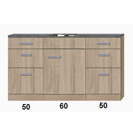 Kitchenette 160cm incl rvs spoelbak KIT-922