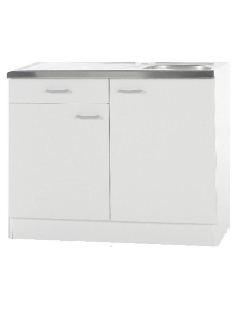 Keukenblok Klassiek 50 + RVS aanrecht 100cm x 50cm met een la KIT-187