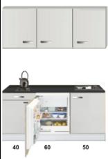 Kitchenette 150cm met inbouw koelkast van 60cm KIT-1555