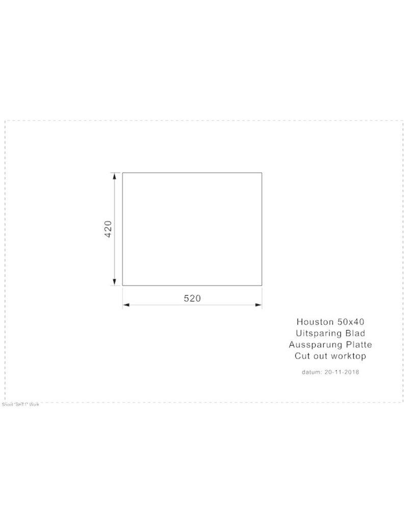 spoelbak vierkant HOUSTON 50X40 KIT-885