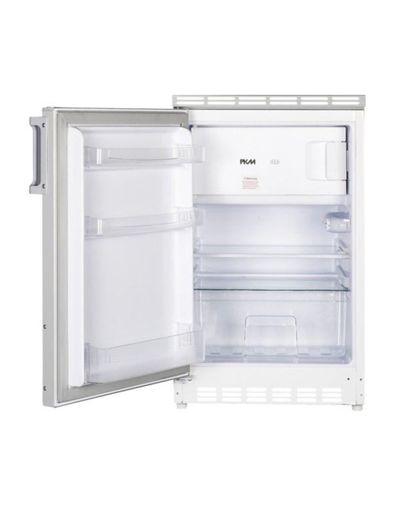 Keukenblok houtnerf 180cm met apothekerskast, kookplaat en koelkast KIT-3302