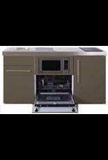 MPGSM 160 Bruin met koelkast, vaatwasser en magnetron  KIT-985