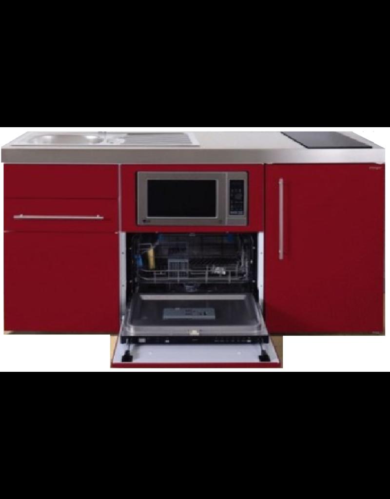 MPGSM 160 Rood met koelkast, vaatwasser en magnetron  KIT-986