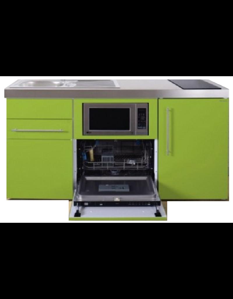 MPGSM 160 Groen met koelkast, vaatwasser en magnetron  KIT-987