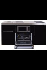 MPGSM 160 Zwart met koelkast, vaatwasser en magnetron  KIT-982
