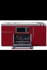 MPGSM 150 Rood met vaatwasser, koelkast en magnetron KIT-926