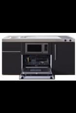 MPGSM 150 Zwart mat met vaatwasser, koelkast en magnetron KIT-925