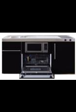 MPGSM 150 Zwart metalic met vaatwasser, koelkast en magnetron KIT-924