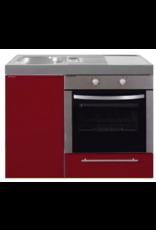MKB 100 Bordeauxrood met  oven KIT-952