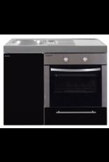MKB 100 Zwart metalic met  oven KIT-9542