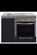 MKB 100 Zwart mat met  oven KIT-9543