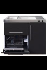 MPGS 120 Zwart mat met vaatwasser en koelkast KIT-9598