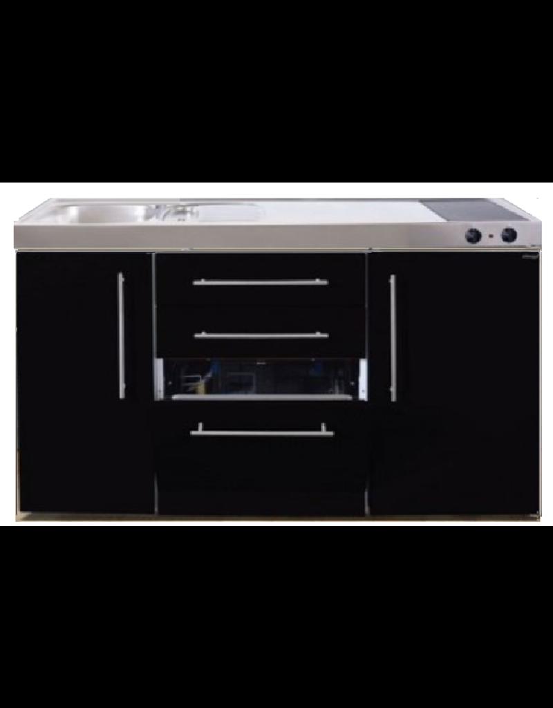 MPGS 150 Zwart metalic met vaatwasser en koelkast KIT-9541