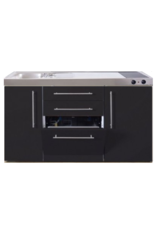MPGS 150 Zwart mat met vaatwasser en koelkast KIT-9543