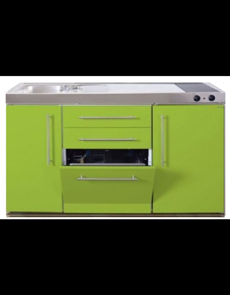 MPGS 150 Groen met vaatwasser en koelkast KIT-9541