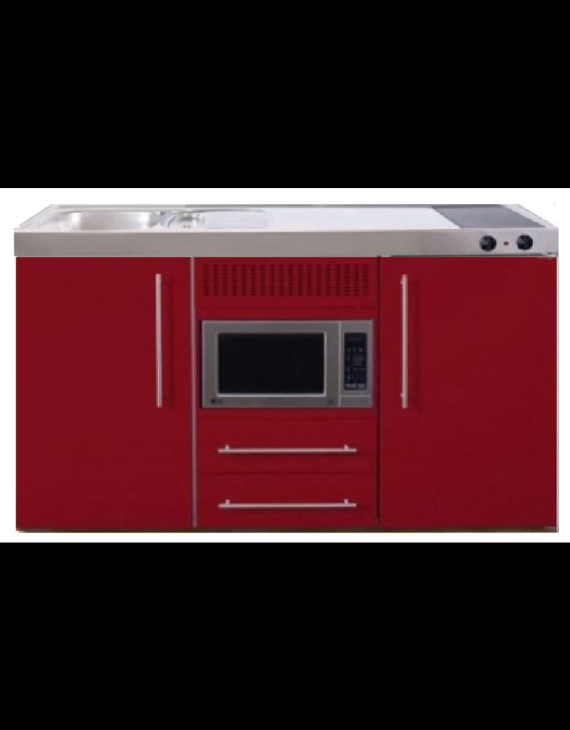 MPM 150 Rood met koelkast en magnetron KIT-953
