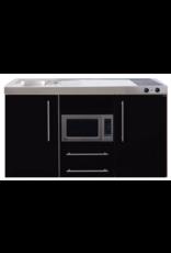 MPM 150 Zwart metalic met koelkast en magnetron KIT-957