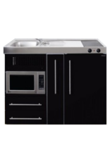 MPM 120 A Zwart metalic met koelkast, apothekerskast en magnetron KIT-9547