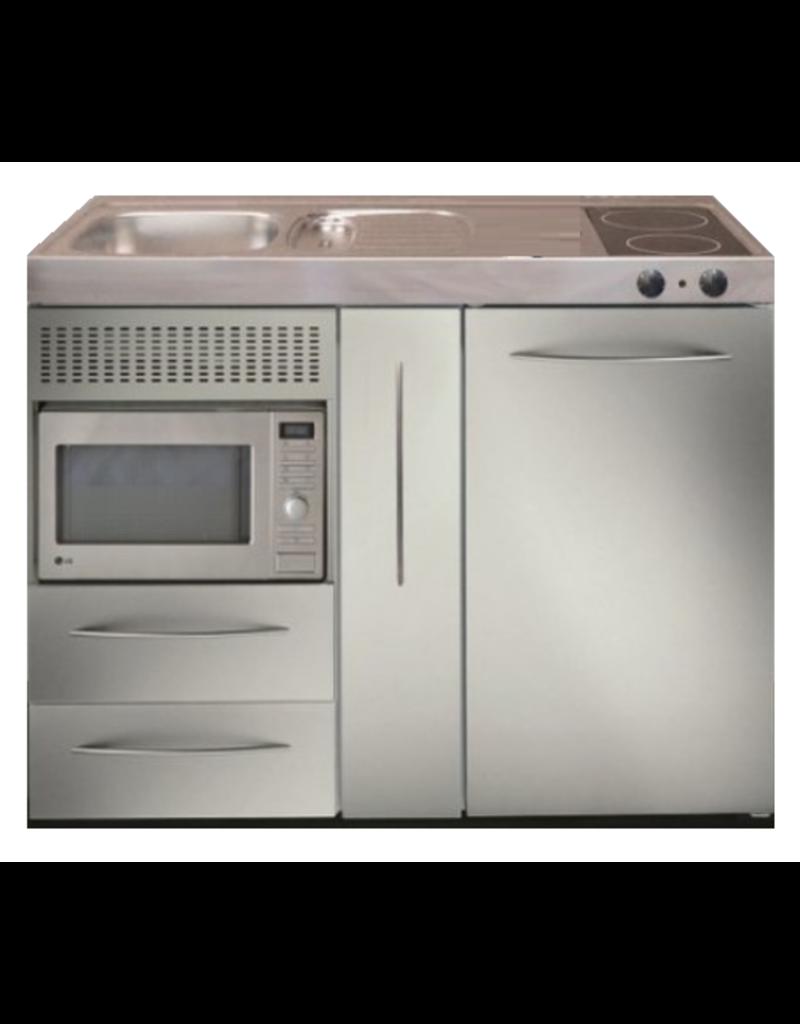 MPM 120 A RVS met koelkast, apothekerskast en magnetron KIT-9538