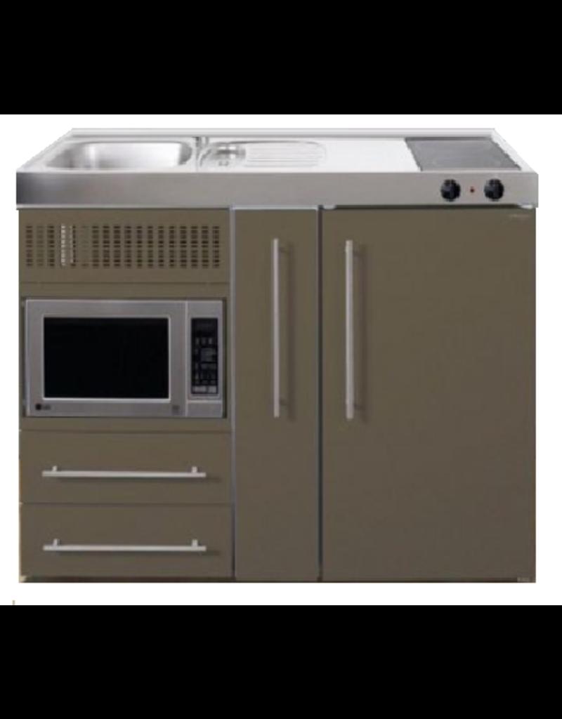 MPM 120 A Bruin met koelkast, apothekerskast en magnetron KIT-9542