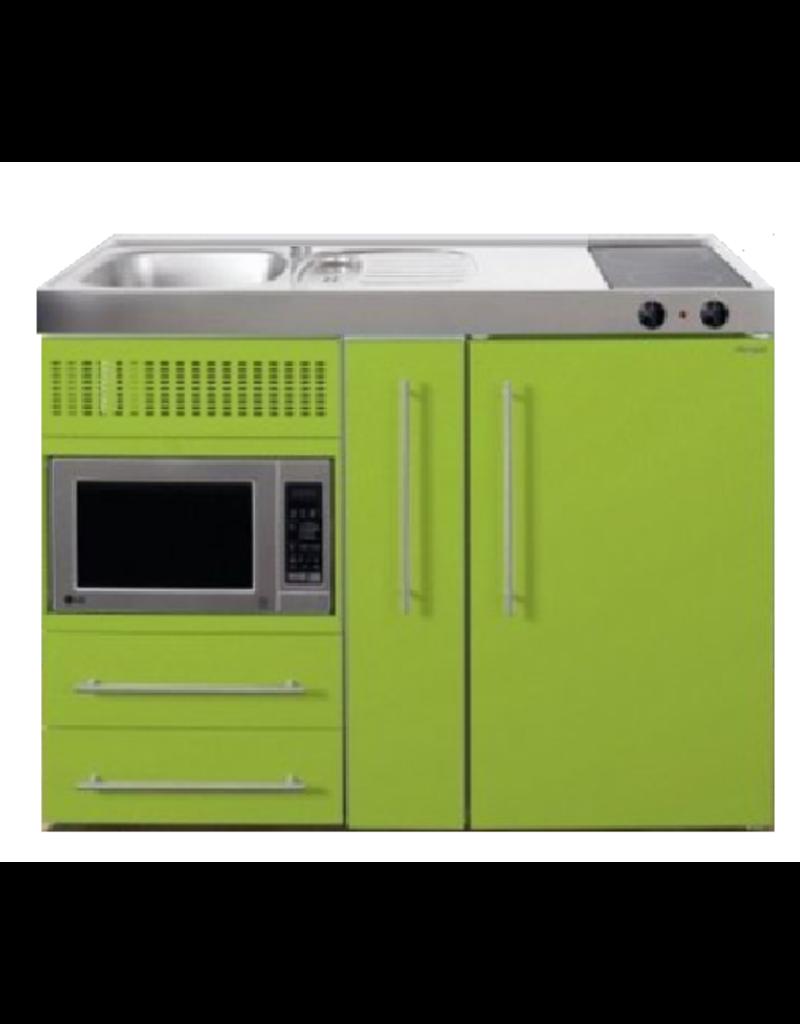 MPM 120 A Groen met koelkast, apothekerskast en magnetron KIT-9540