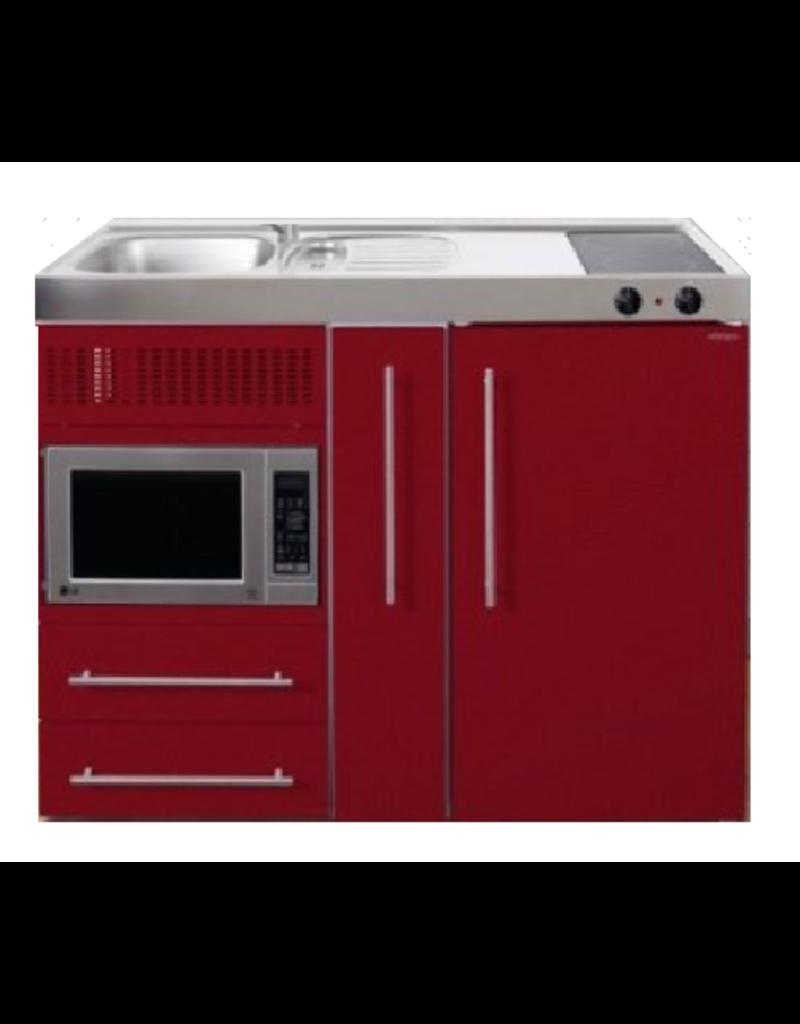 MPM 120 A Rood met koelkast, apothekerskast en magnetron KIT-9545