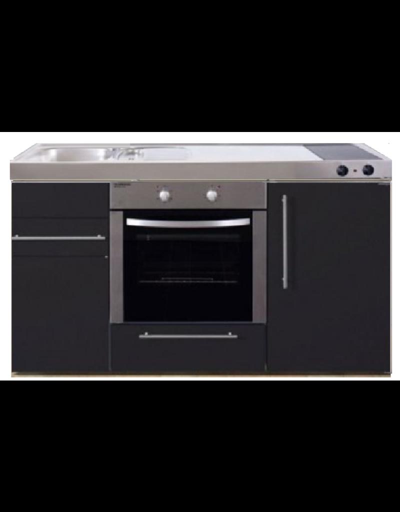 MPB 150 Zwart mat met koelkast en oven KIT-938