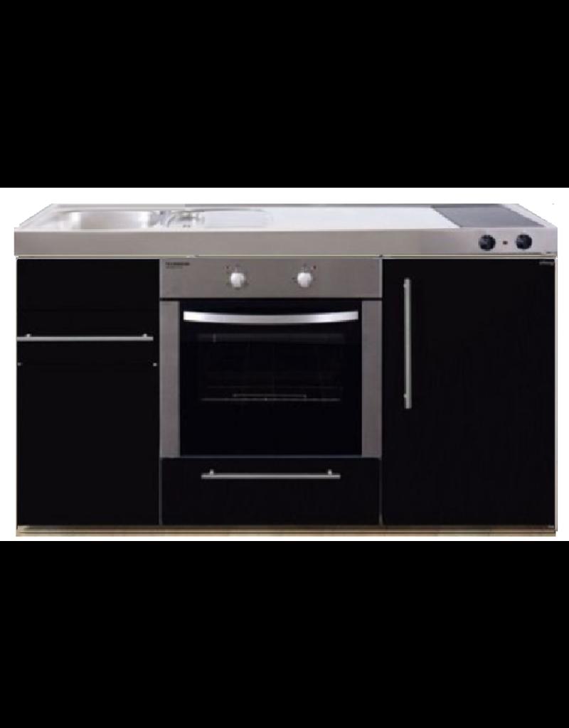 MPB 150 Zwart metalic met koelkast en oven KIT-939