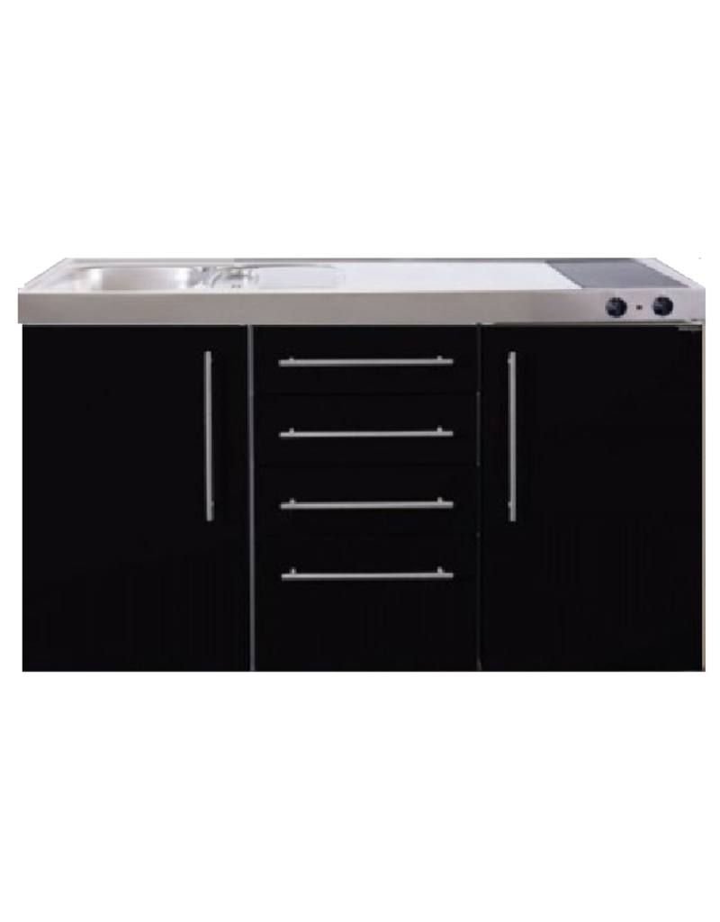 MPS4 150 Zwart metalic met koelkast en 4 ladekasten KIT-9538