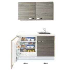 Kitchenette 100cm incl mini inbouw koelkast KIT-2251