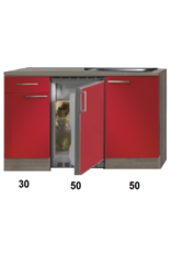 Kitchenette Imola Rood Glans 130cm KIT-88